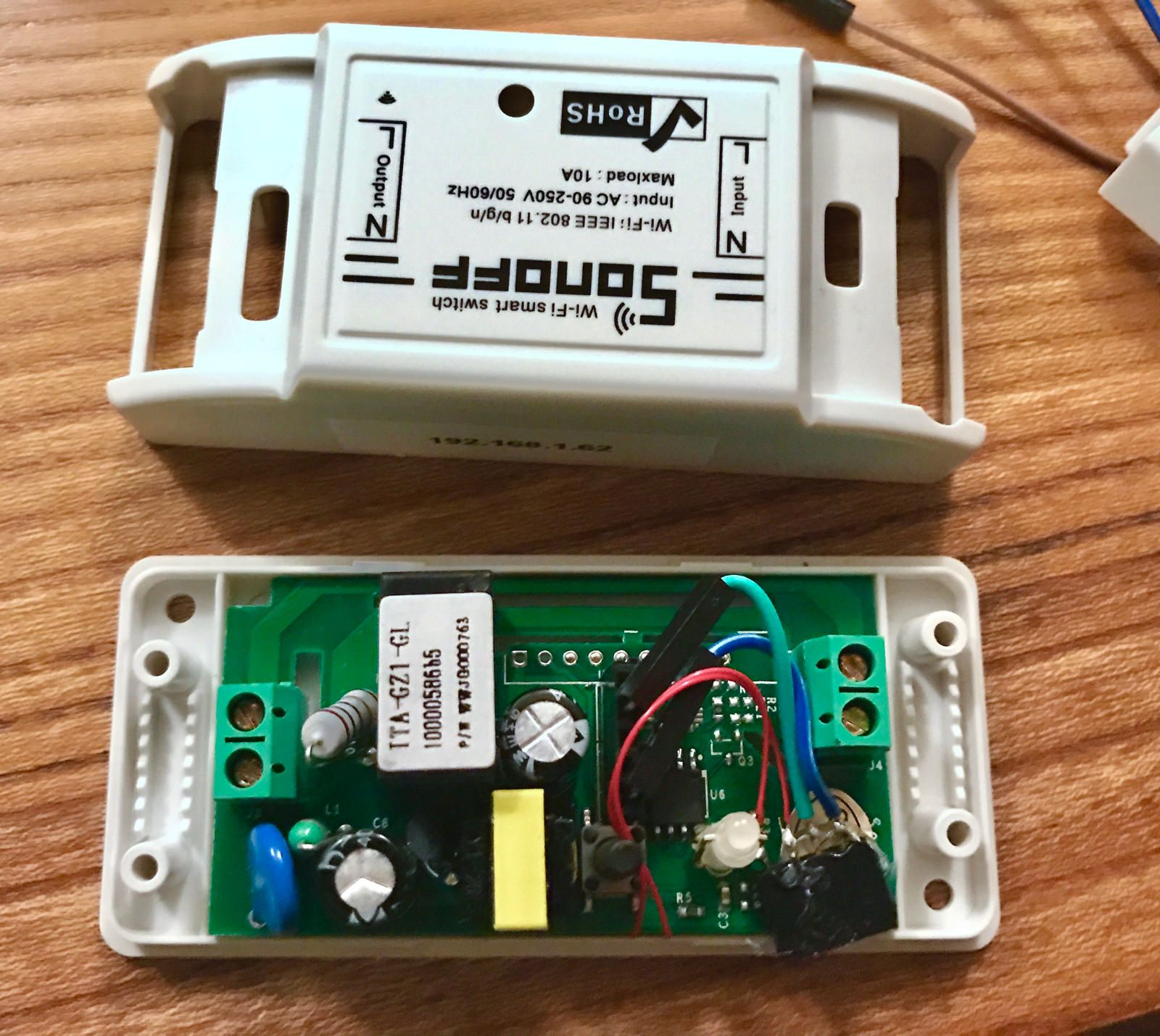 How To Add An I2c Interface To A Sonoff Wifi Smart Switch The Sonoff Brand Is A Whole Series Os Iot Devic Smart Switches Electronics Projects Diy Wifi Gadgets