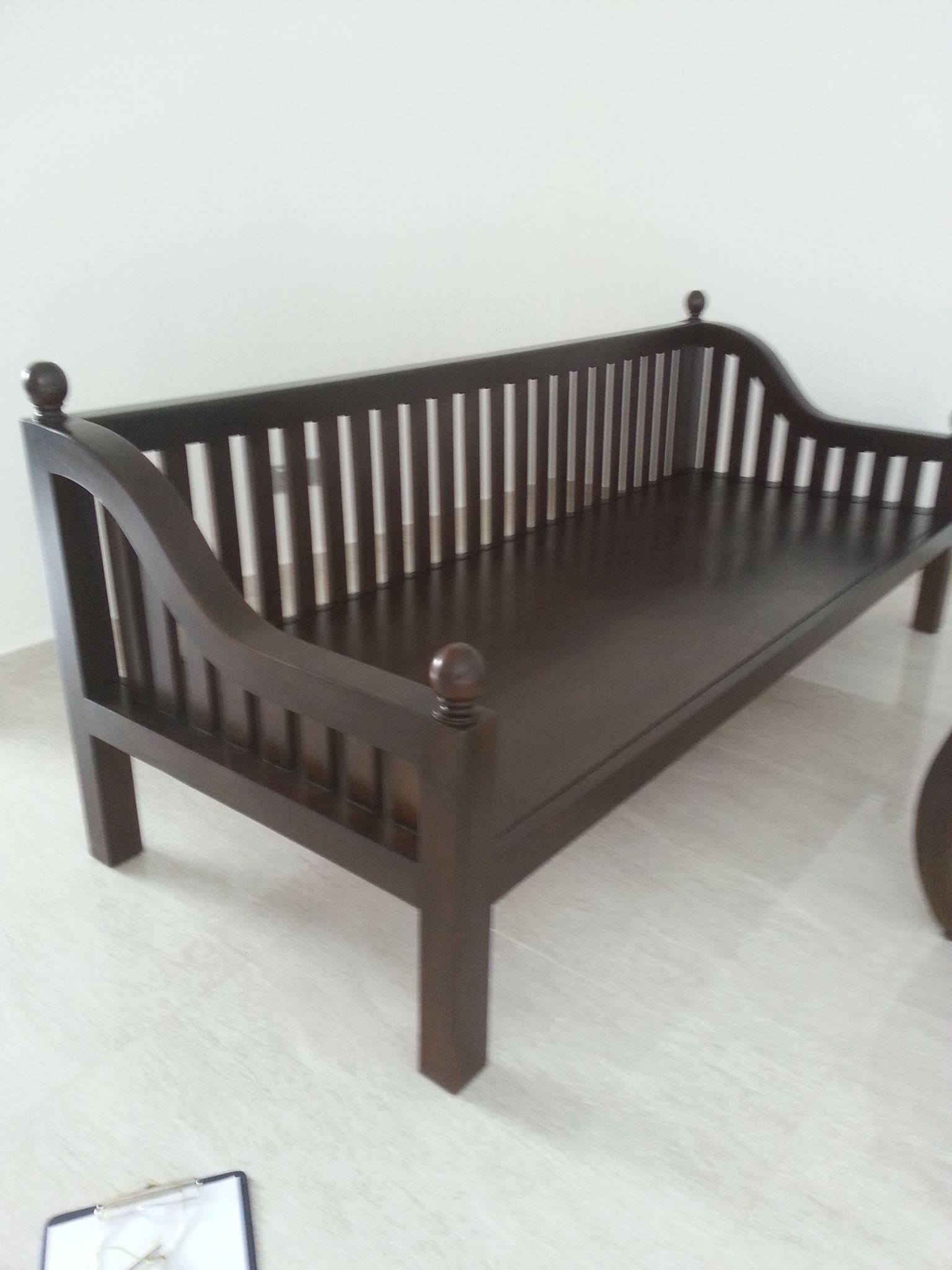 Best Teak Daybed Dark Walnut Stain Wooden Sofa Designs Wood 400 x 300