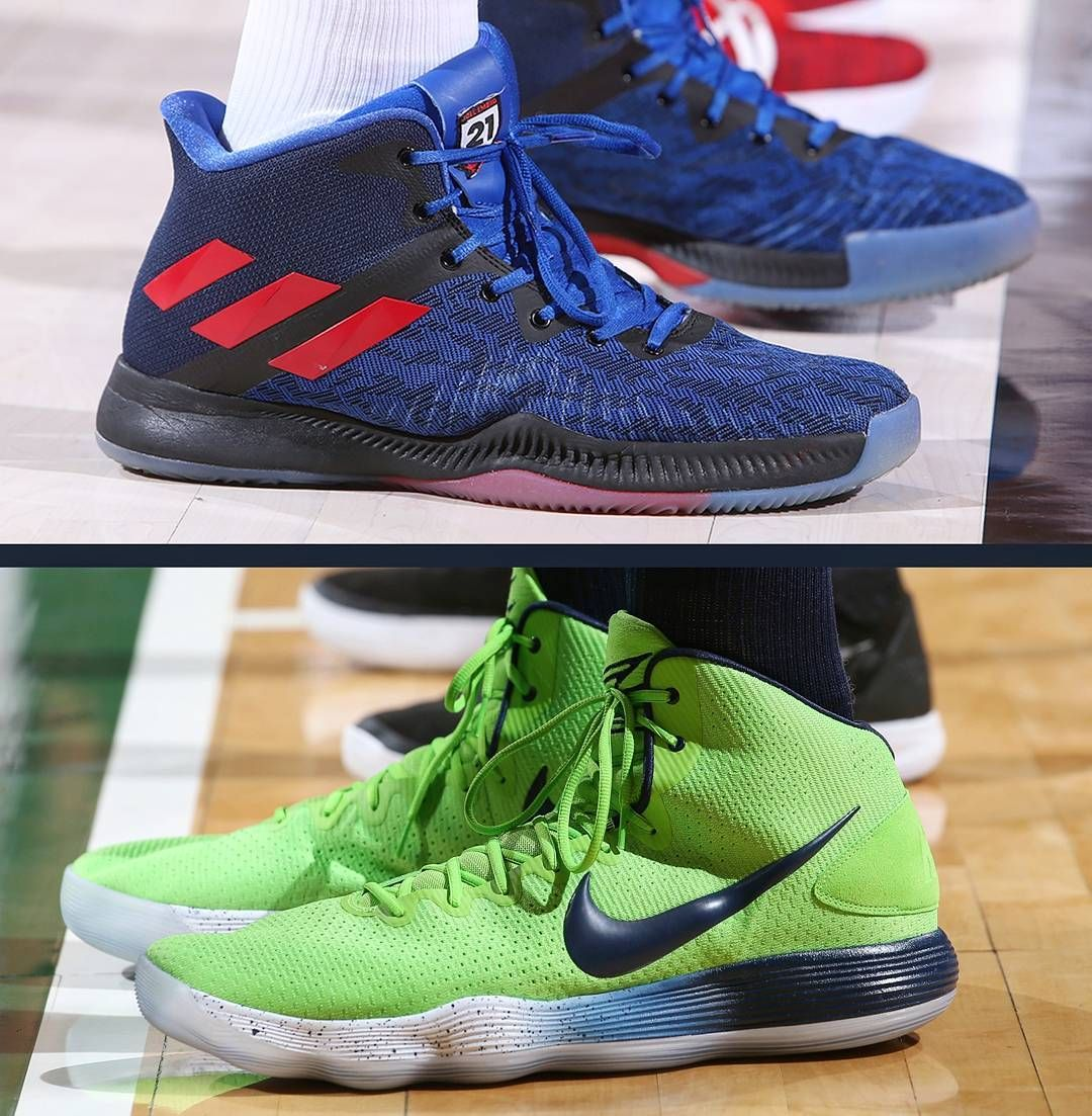 f1de8f3b6bb1 Embiid in the Mad Bounce or Towns in the Hyperdunk   ShoeGame  joelembiid