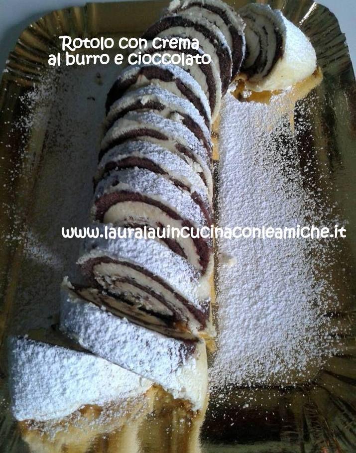 ROTOLO ZEBRATO CON CREMA AL BURRO E CIOCCOLATO Come resistere ad una fettina di questo rotolo slurposo? L'ho preparato e personalizzato con il cioccolato a scaglie per un occasione speciale!!! BUON APPETITO! Clicca per la ricetta con foto: http://www.lauralauincucinaconleamiche.it/2015/12/rotolo-zebrato-con-crema-al-burro-e.html