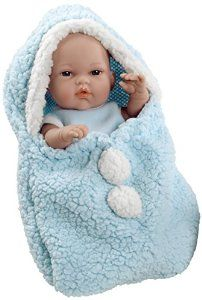 Arias 33 cm Elegance Natal Doll with Sack in a Bag (Blue): Amazon.co.uk: Toys & Games