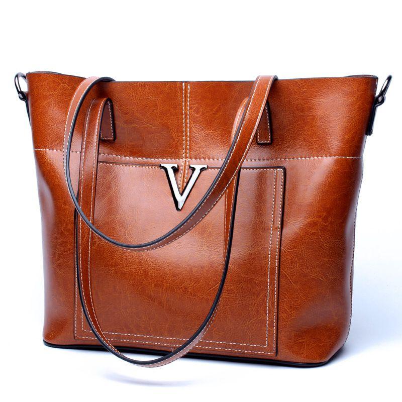 dad6be47b0 2017 jing pin ladies bags handbag wholesale handbags brown genuine leather  tote bag