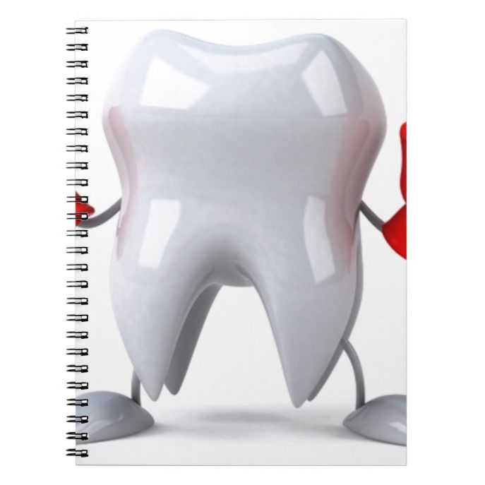 Happy Smiling Tooth Notebook Custom office supplies #business #logo #branding