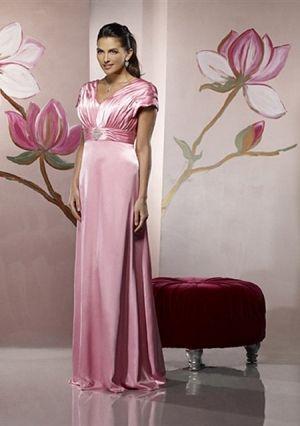 A-line V-neck Floor-length Taffeta Mother of the Bride Dress