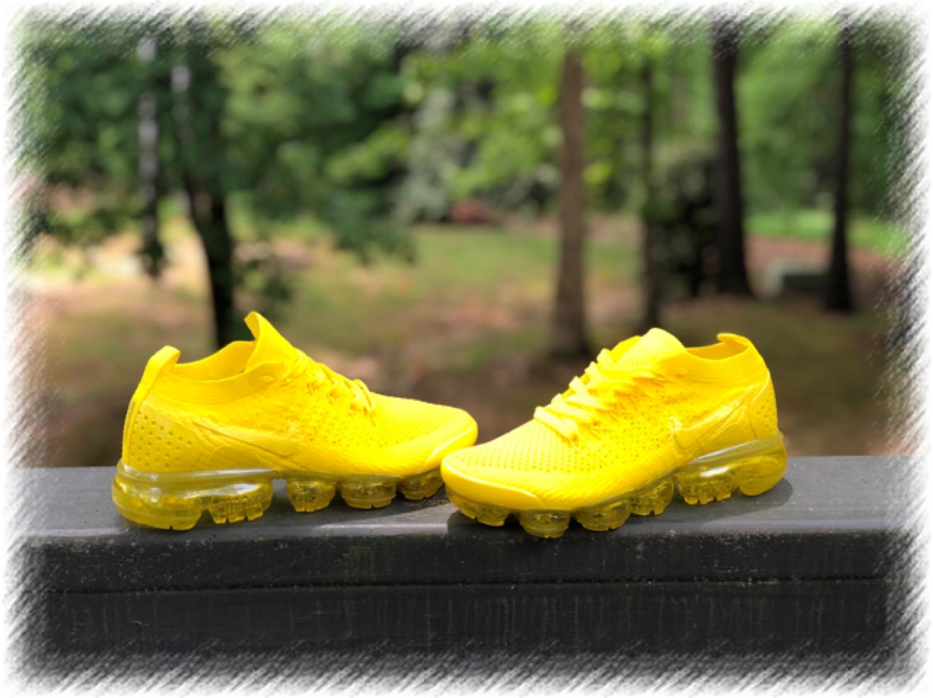 Custom Sunshine Yellow Nike Vapormax