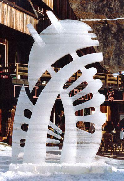 © fredice - Sculpture sur glace