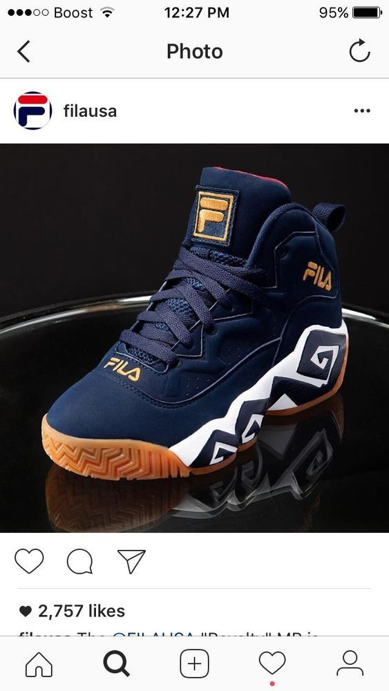 FILA MB M3 JAMAL MASHBURN NAVY/WHT/MGOLD LIMITED EDITION 1VB90141-424 MEN'S