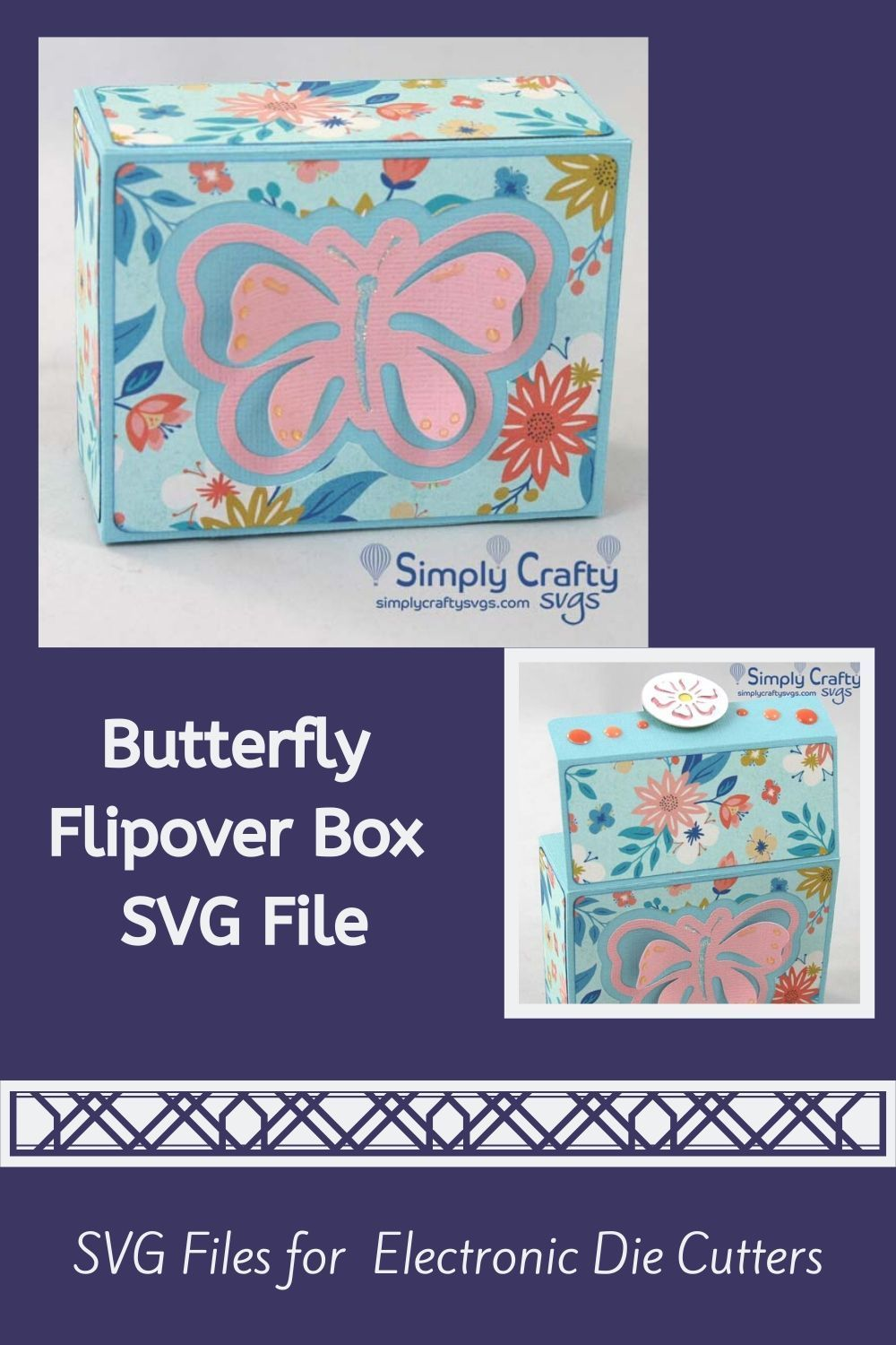 Butterfly Fliptop Box SVG File in 2020 (With images