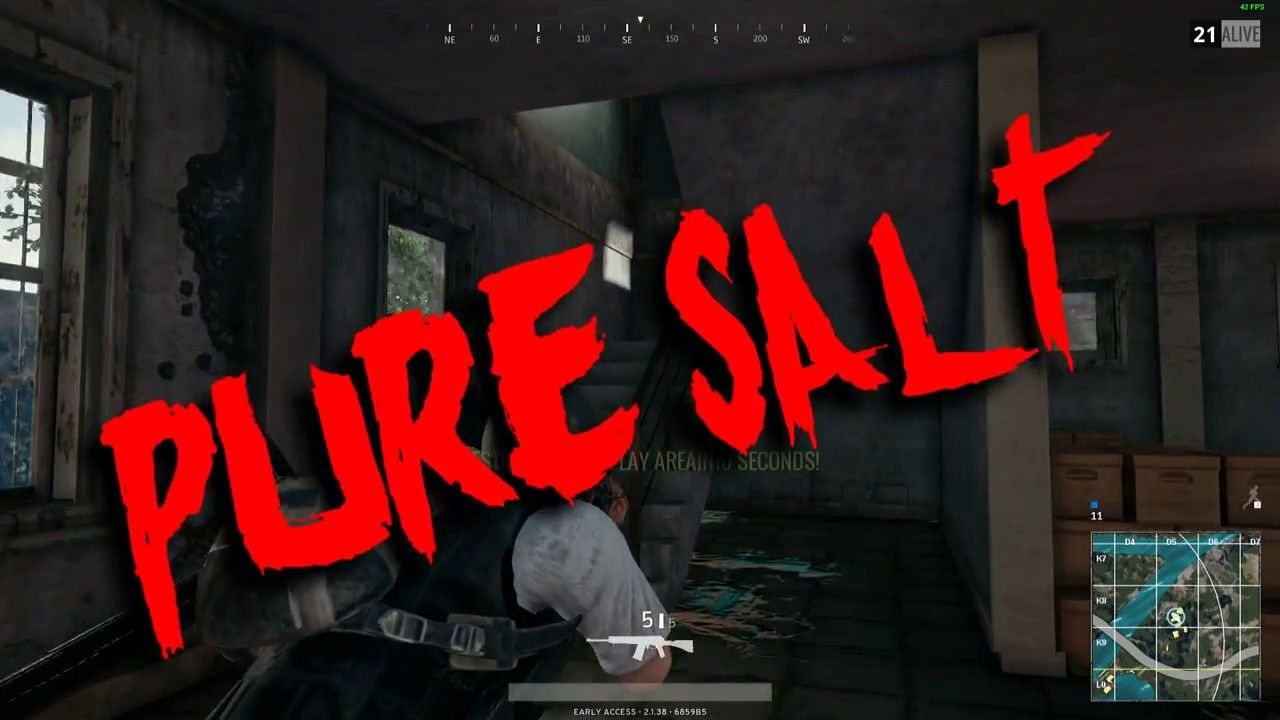 PUBG THE SALTIEST GUY EVER! Salty