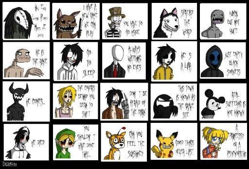 Creepypasta famous phrases   Creepypasta   Creepypasta characters