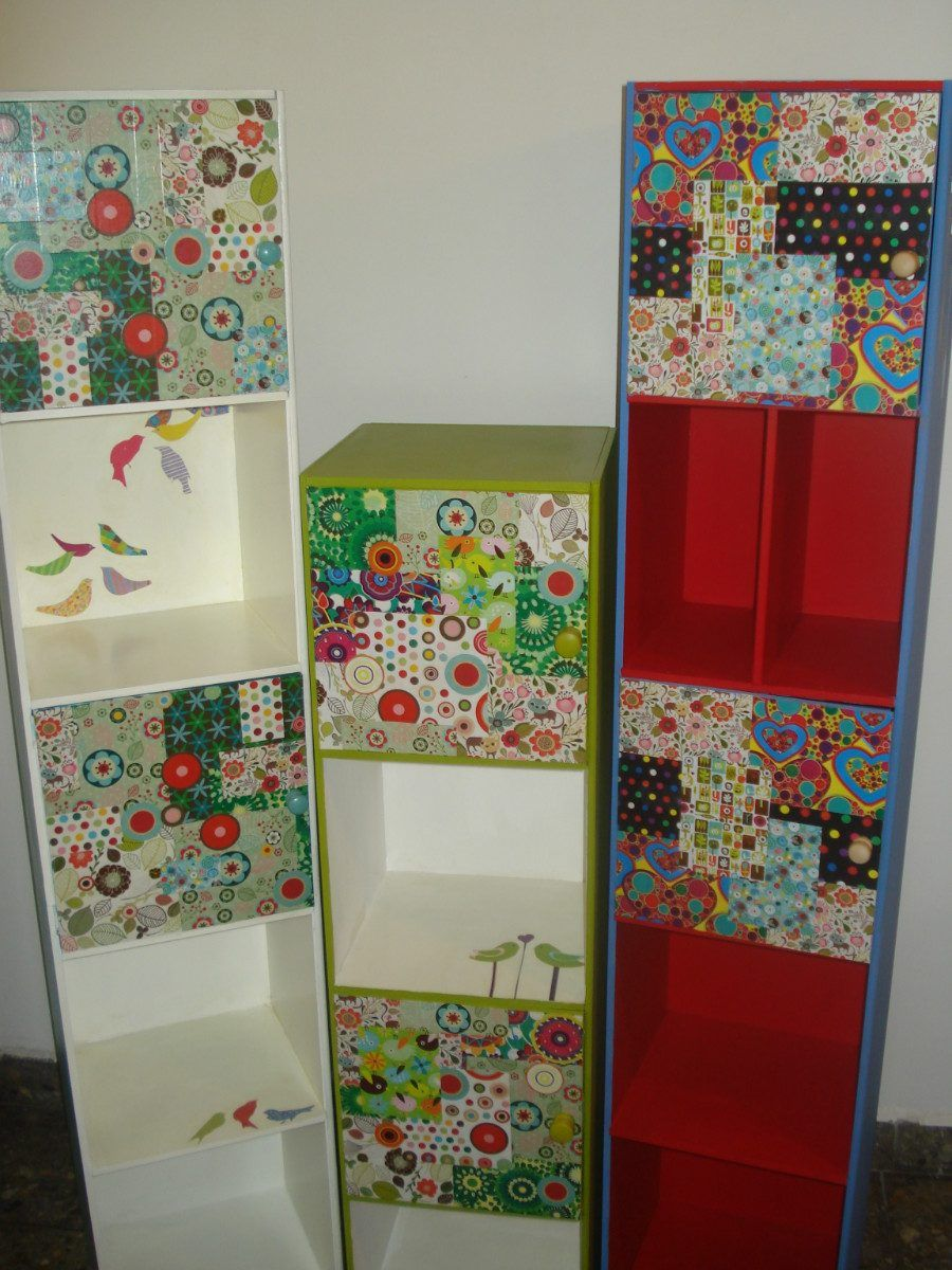 despenseros organizador de cocina mueble de madera colores