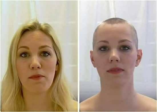 Kopfhaare Rasieren