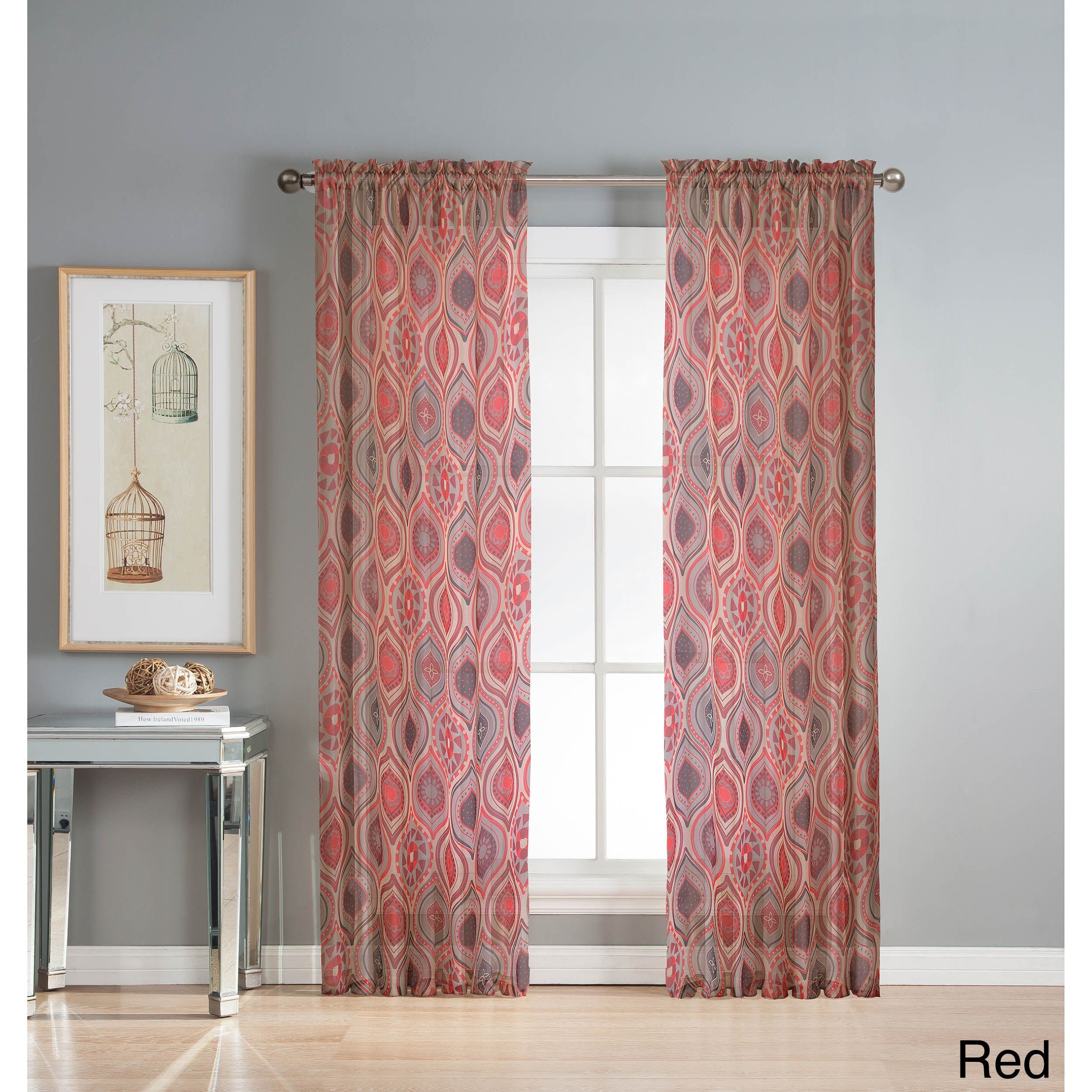 pin grommet elements faux window curtain inch wide curtains silk panel jane extra