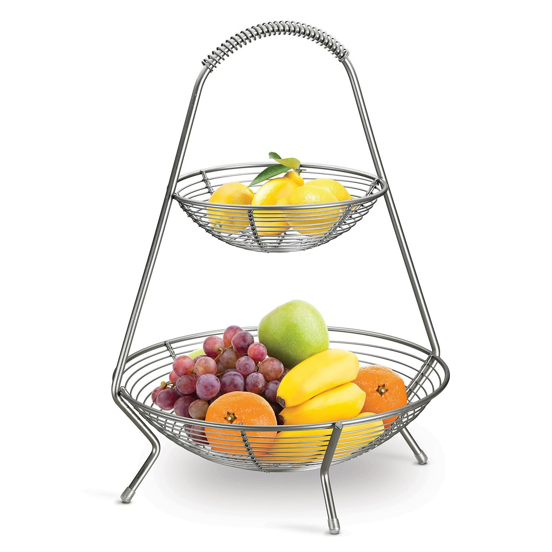 Tramontina Stainless Steel 2 Tier Fruit Basket Sam S Club