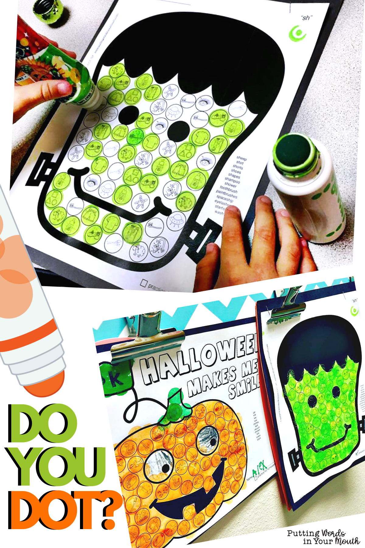 Articulation Dot Art For Halloween No Prep And All Sounds