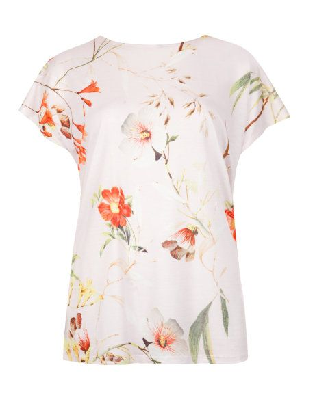 Botanical bloom print tee - Pale Pink | Tops  T-shirts | Ted Baker