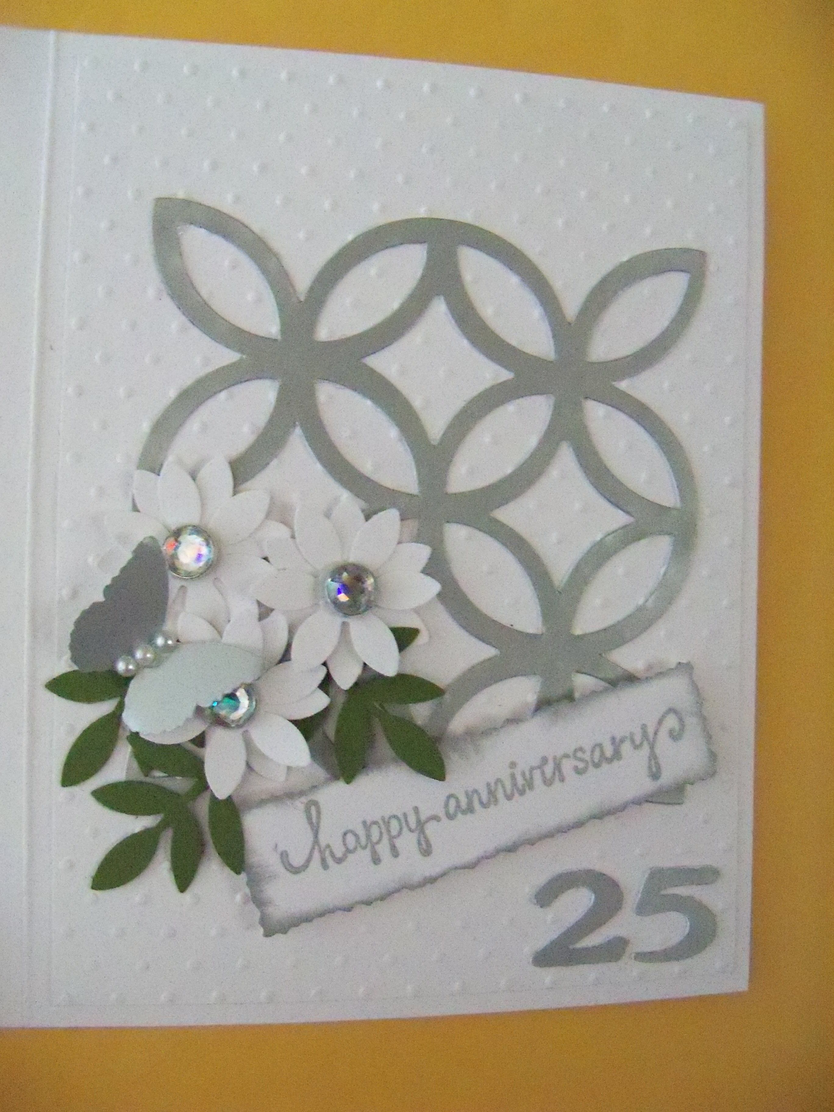Pin By Barbara Mccuen On Cards Made By Me Wedding Anniversary Cards Embossed Cards Cards Handmade