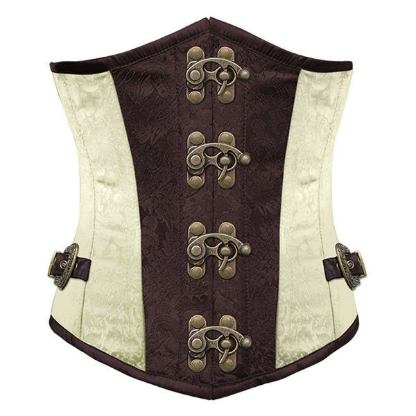 Sexy Gothic Punk Coffee Lace Up Women Steampunk Underbust Corset Bustier CS2025 in Corsets & Bustiers | eBay