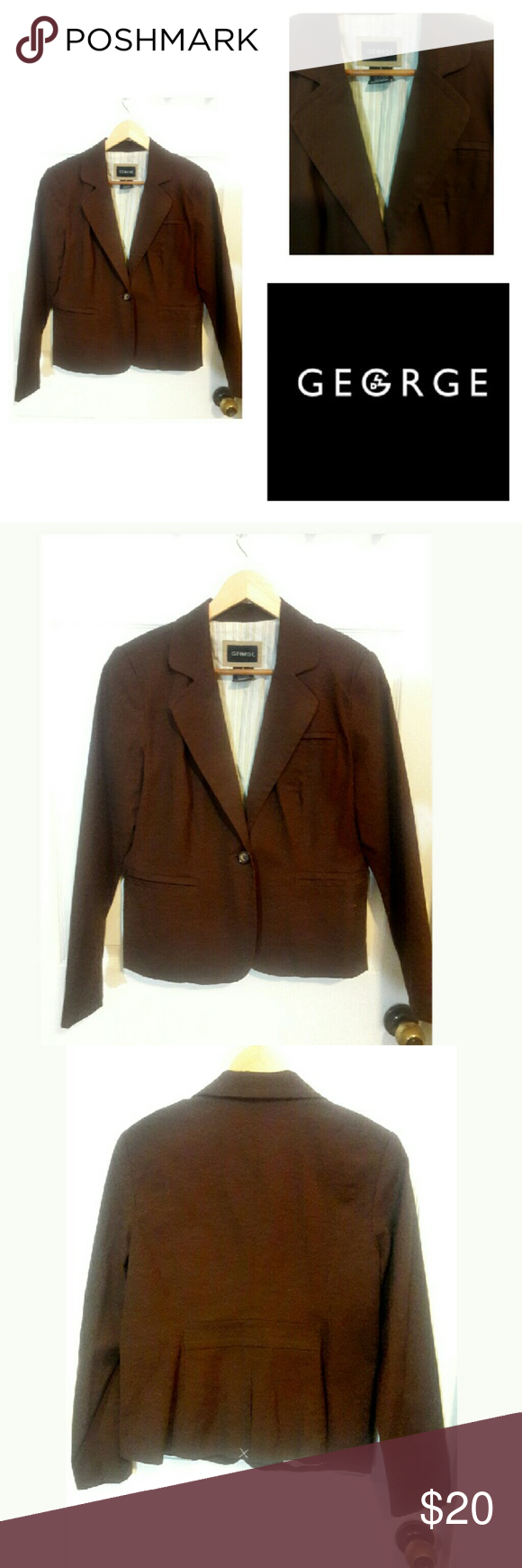 NWOT George brown casual blazer NWOT George brown casual blazer. Faux front pockets. Smoke free home. George Jackets & Coats Blazers