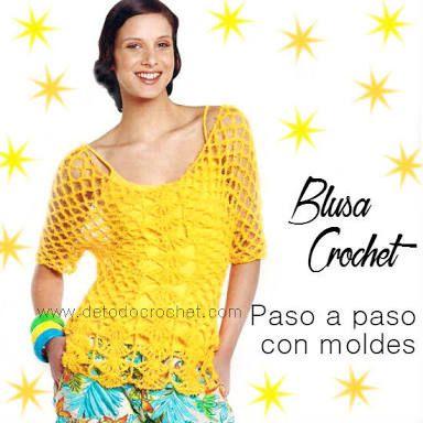 Resultado de imagen para patron blusa a crochet