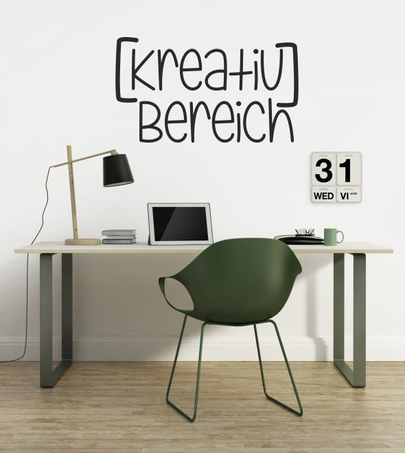 kreativ bereich kreativ b ro wandtattoo wandtattoos wandsticker wandaufkleber denken. Black Bedroom Furniture Sets. Home Design Ideas