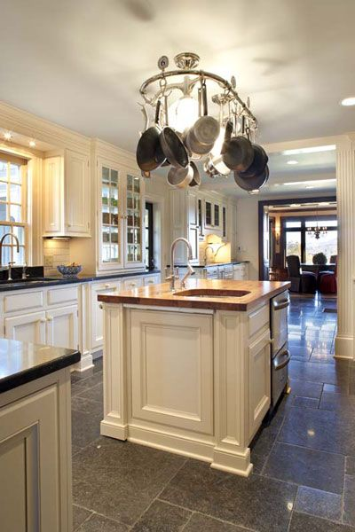 Pot Rack Light Fixture But Don T Like The Being Obstructed By Pans Lights Would Need To Hang Down Below Level Of