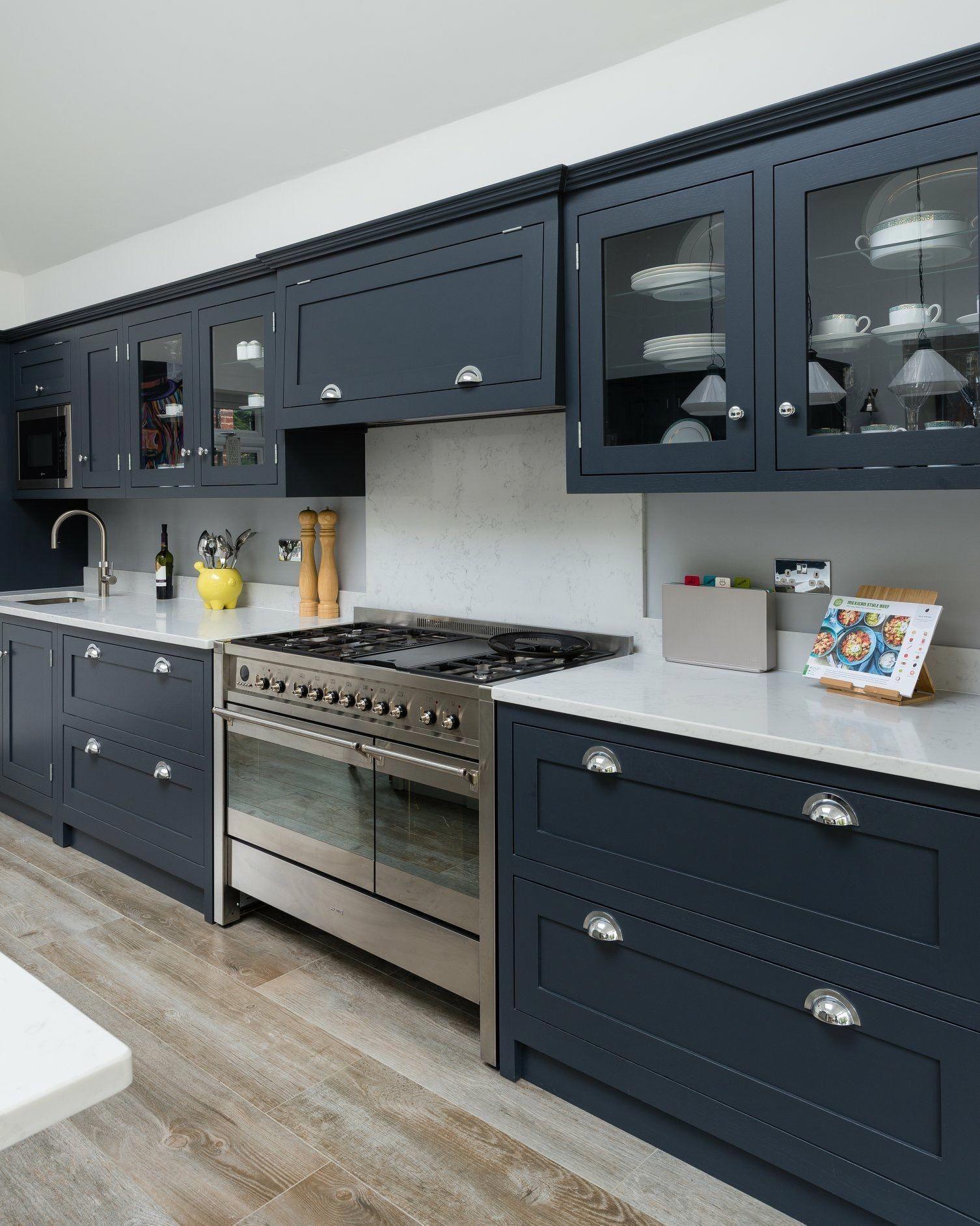 #kitchenrenovationideas | Grey shaker kitchen, New kitchen ...