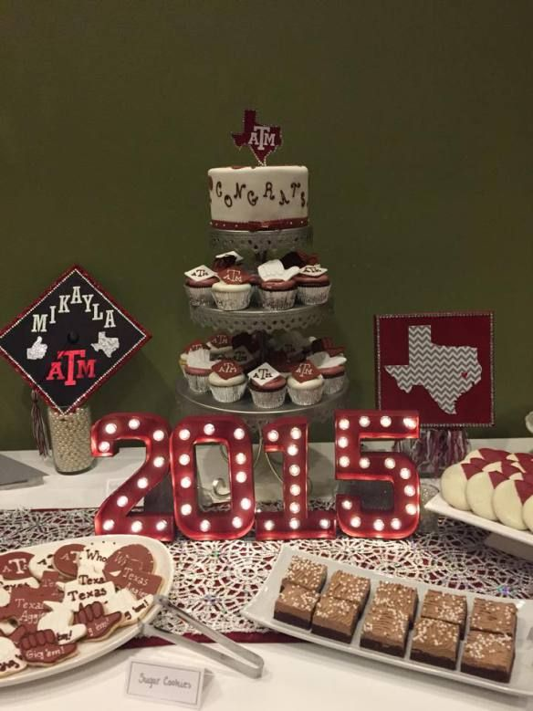 Graduation Party Décor Dessert Table Texas A M Www Inspiredoccasionssa