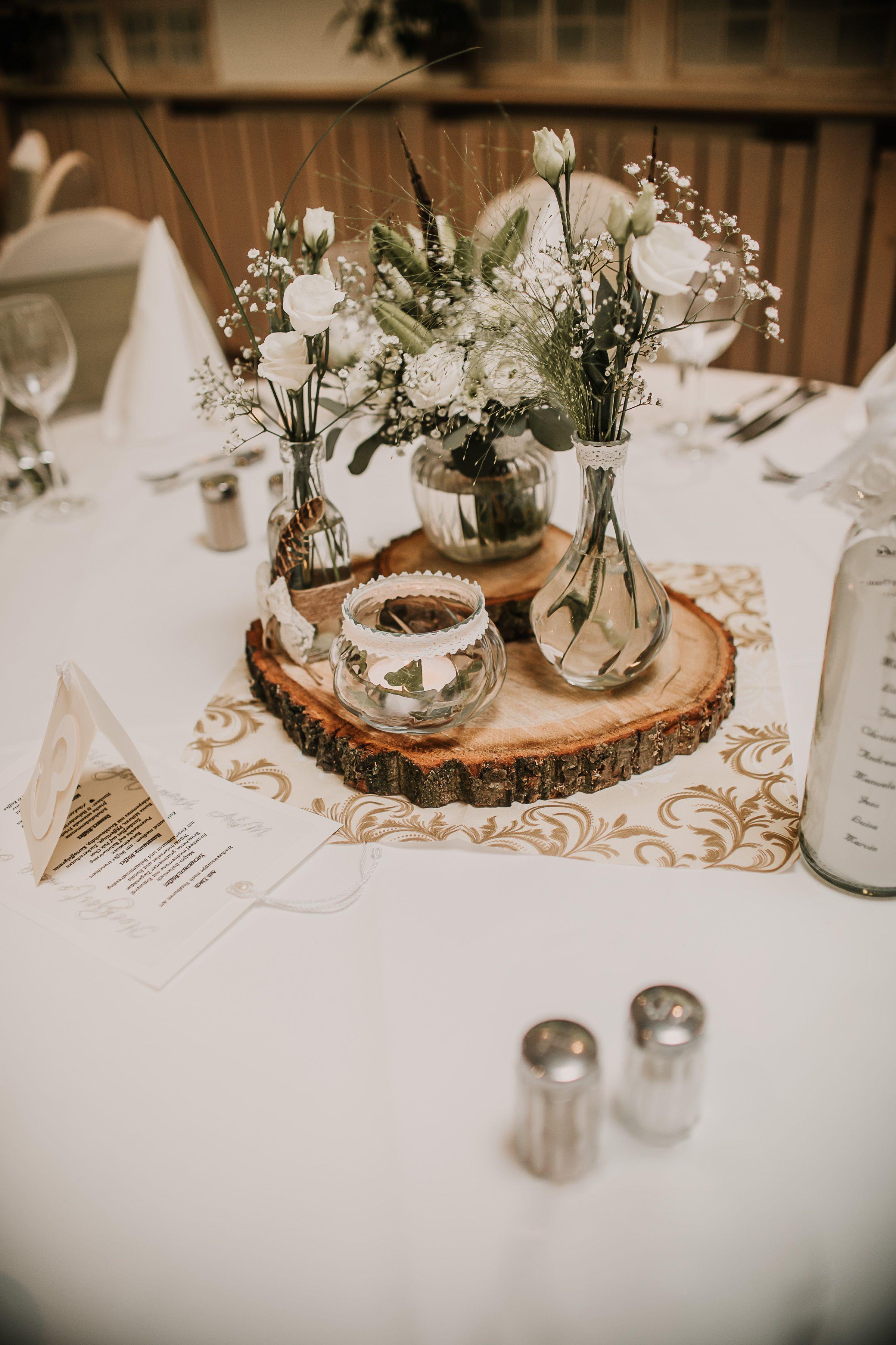 Hochzeitsdeko Jagt, Tischdeko