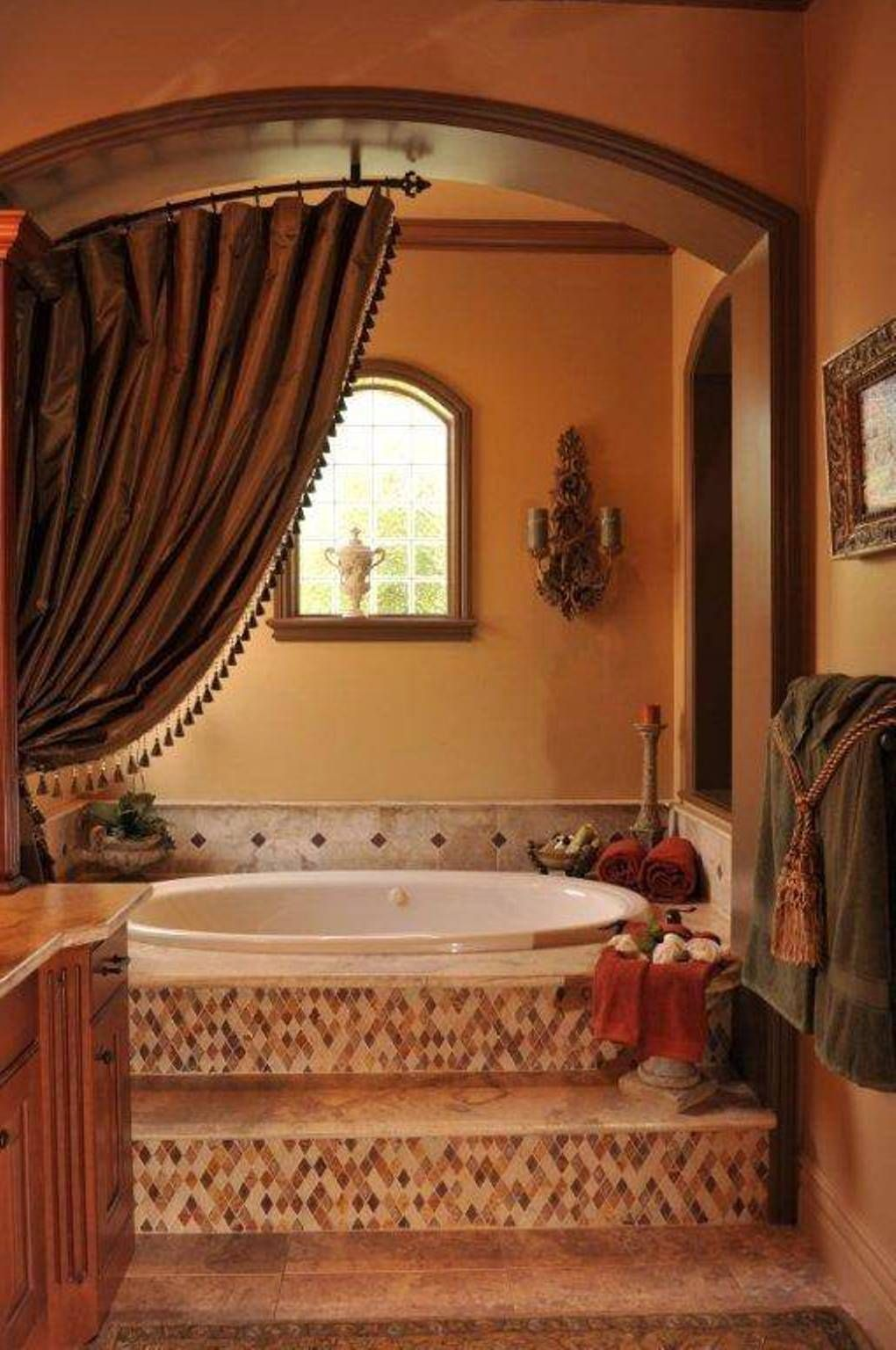 Warm Tuscany Bathrooms Designs Tuscan Bathroom Tuscan