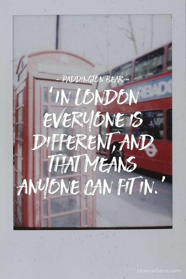 In London everyone is different and that means anyone can fit in.