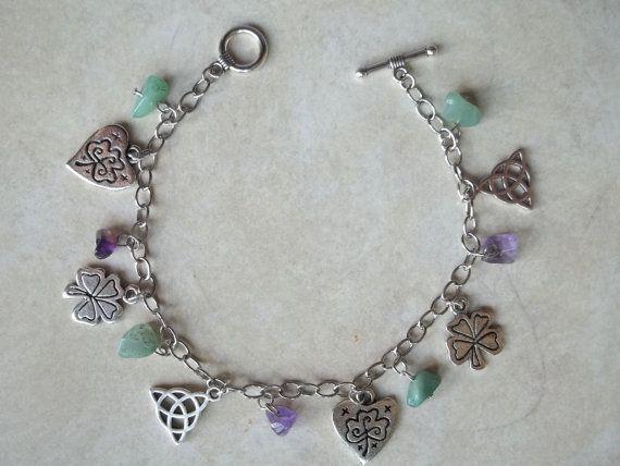 Irish Charm Bracelet by CellDara on Etsy, $15.00