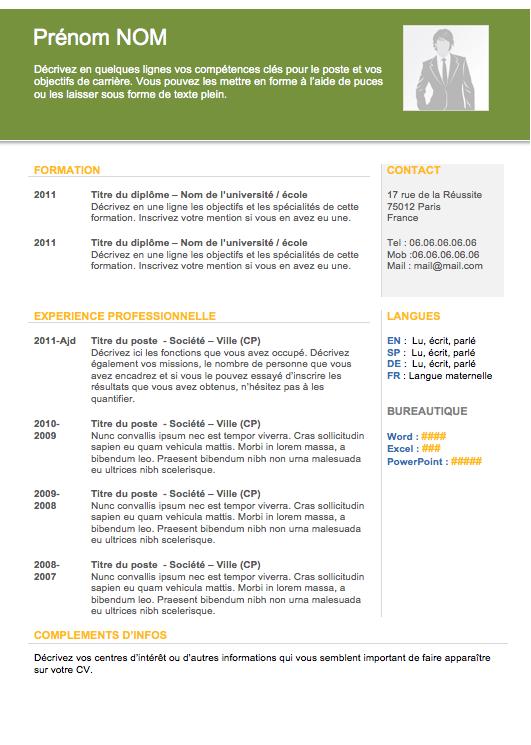 Modèle de cv européen Exemple cv, Cv en ligne