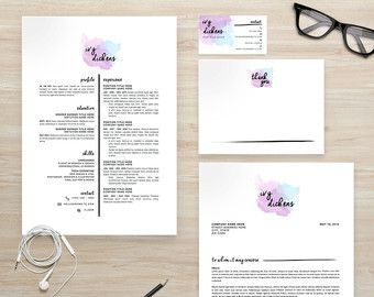 Watercolor Resume  Google Search  Resume Inspiration