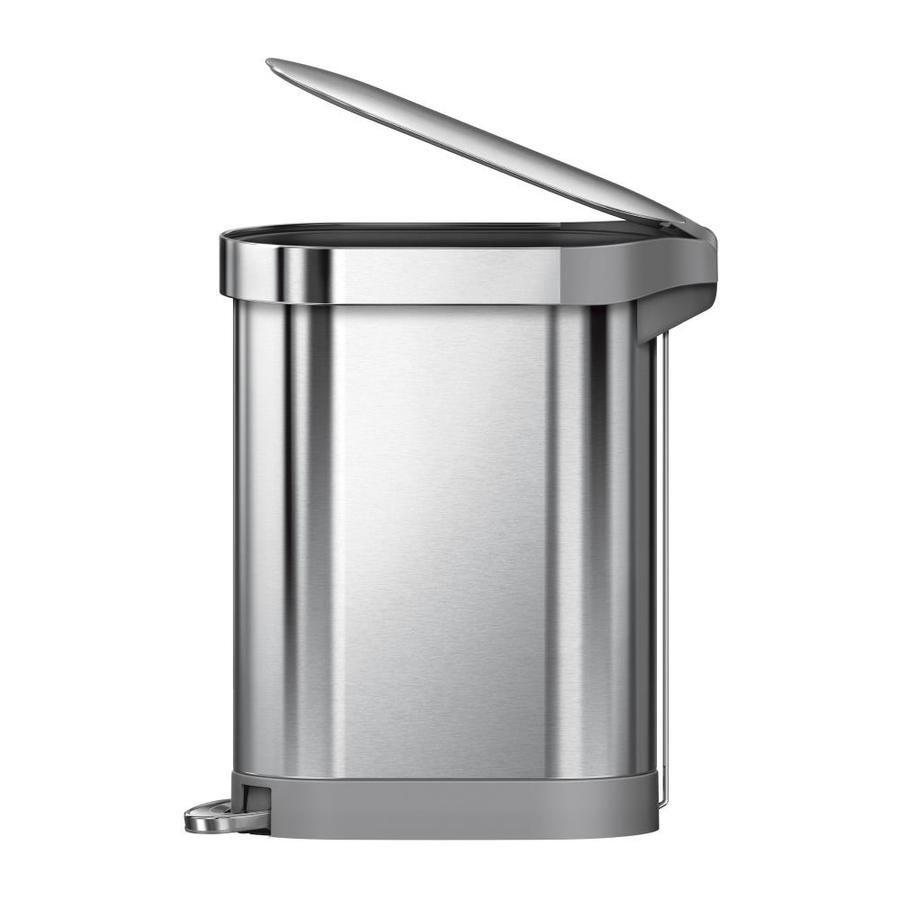 simplehuman slim 45-liter brushed stainless steel trash