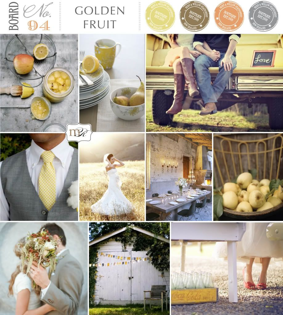 Wedding decorations yellow and gray  Magnolia Rouge Inspiration Board  Color  Pinterest  Inspiration