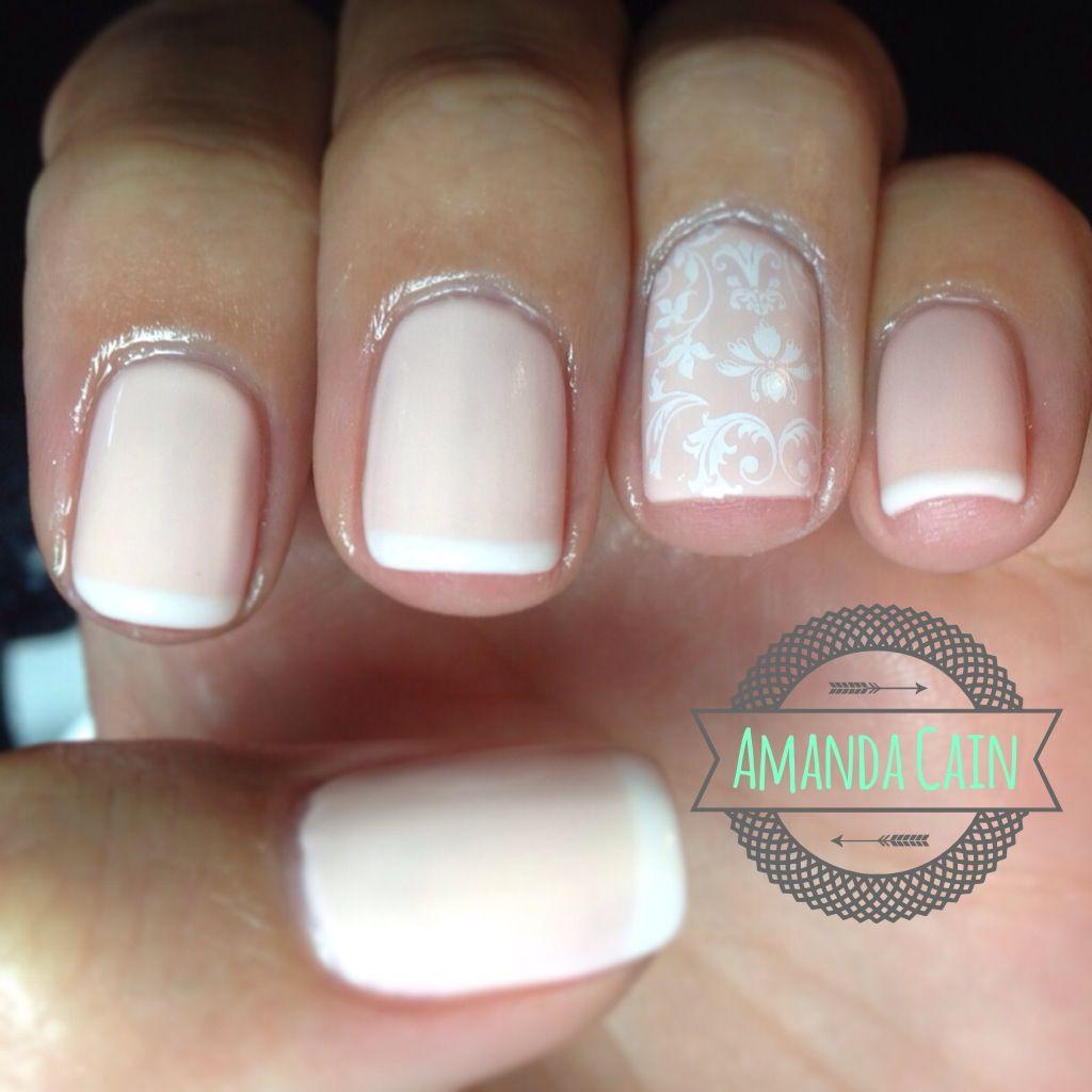 Nails Nail Art Design Pretty Cute Fun Summer Shellac Gelish Gel Nails Polish Wedding Lace Stamp
