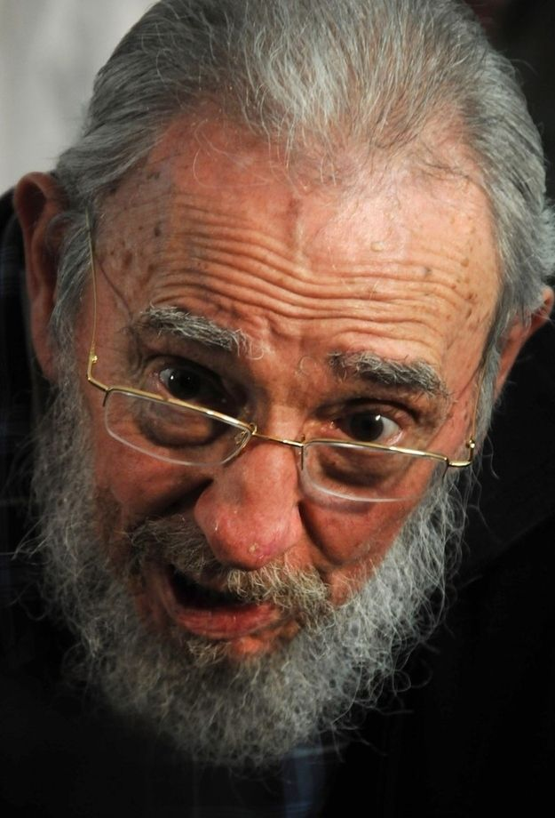 The 86-year-old Castro unexpectedly showed up at a parliament election polling place in Havana this Sunday.