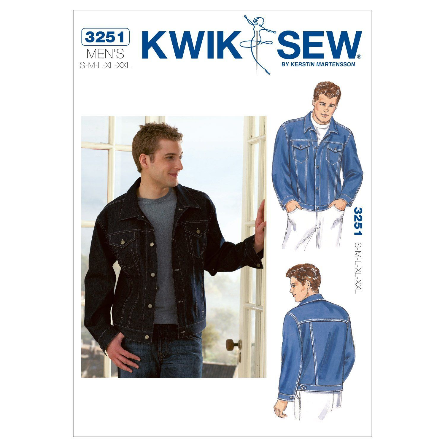 Kwik Sew K3251 Jean Jacket Sewing Pattern, Size S-M-L-XL-XXL Price ...