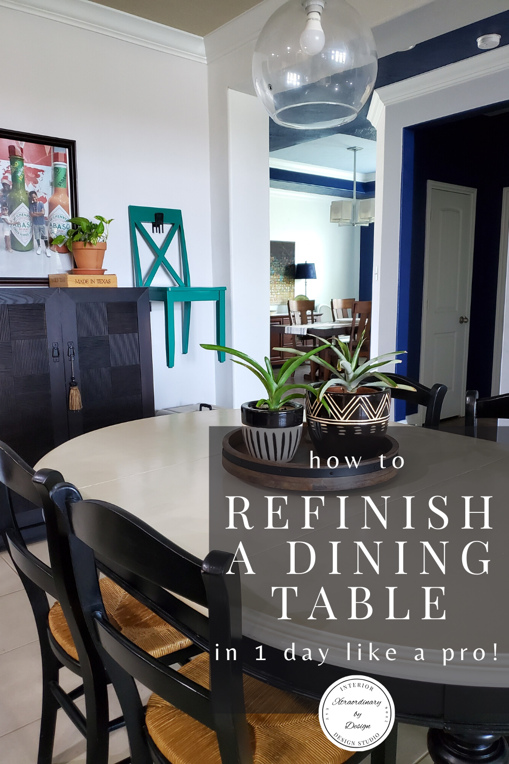 How To Refinish A Dining Table In 1 Day In 2020 Dining Room