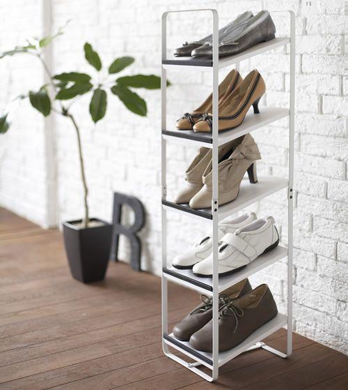 vertical shoe storage rack windmill corner interior. Black Bedroom Furniture Sets. Home Design Ideas