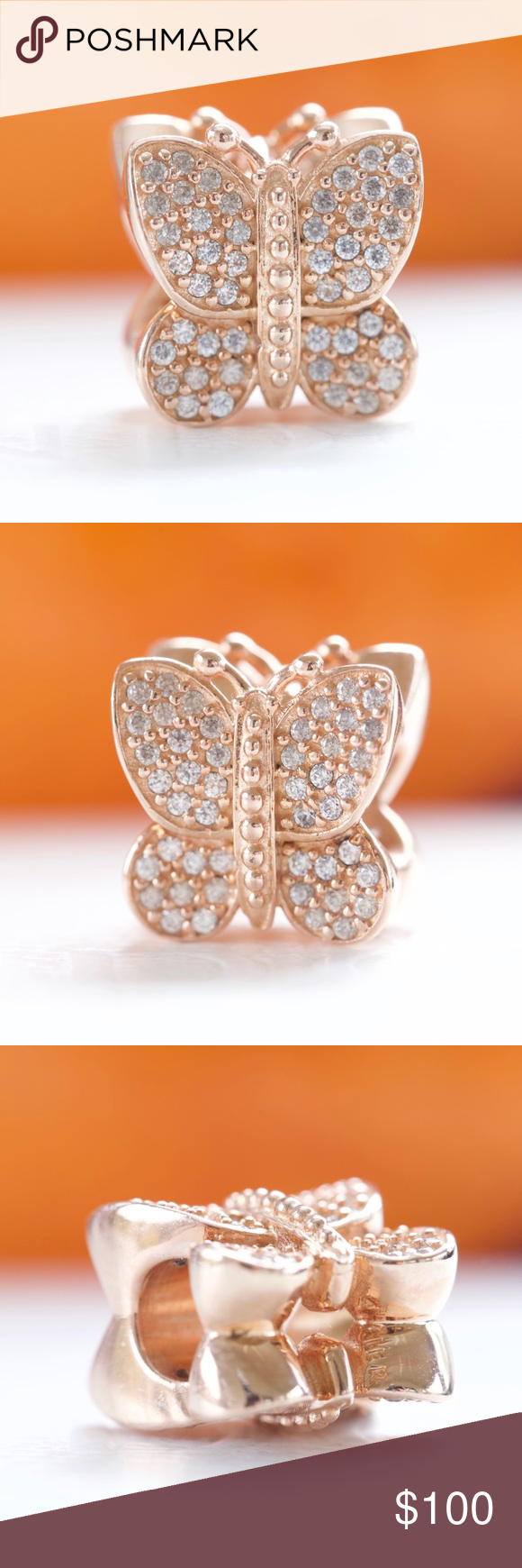 8cbae8d18 Pandora Rose Gold Sparkling Butterfly Pandora Rose Sparkling Butterfly  Retired 781257CZ 100% Authentic, New with tags , will come in Pandora box  Pandora ...