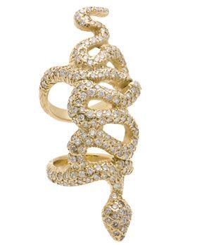 loree rodkin snake diamond ring