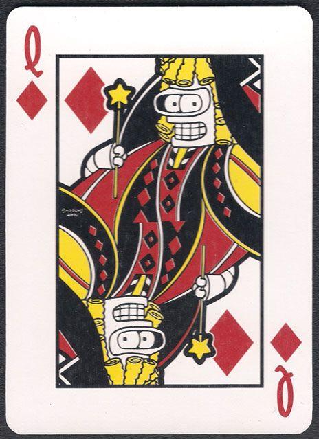 Futurama Playing Cards Diamonds Card Art Playing Cards Design