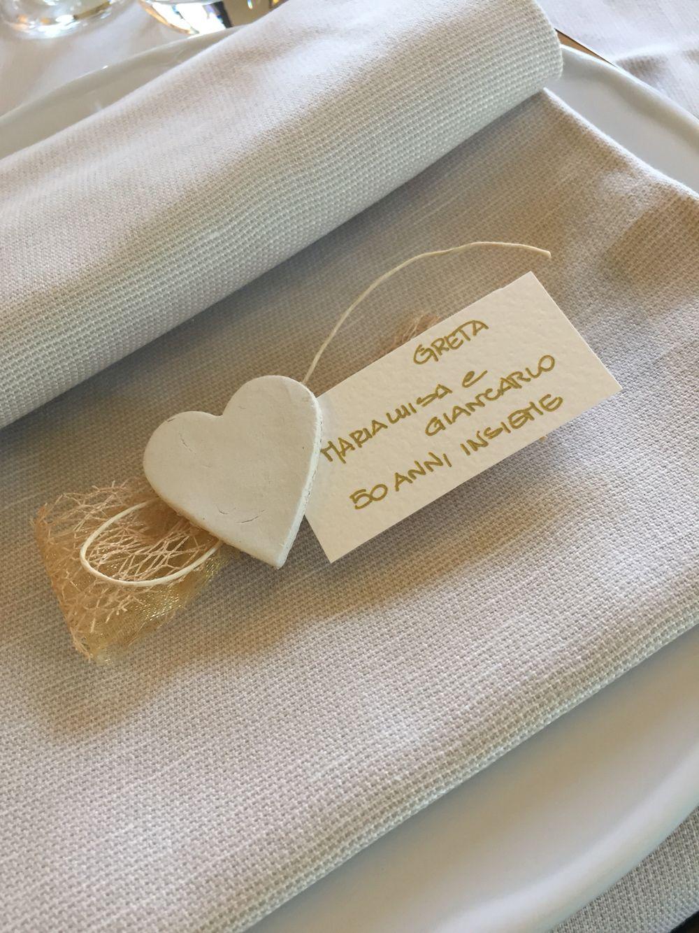 Segnaposto Matrimonio Pinterest.Segnaposto Handmade Oro Nozzeoro Anniversario Segnaposto