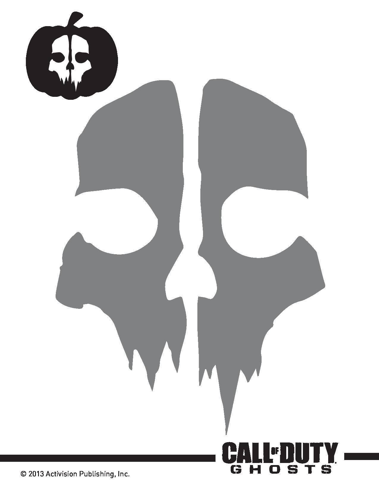Call of Duty Ghosts Pumpkin Pattern | Pumpkin carving stencils ...