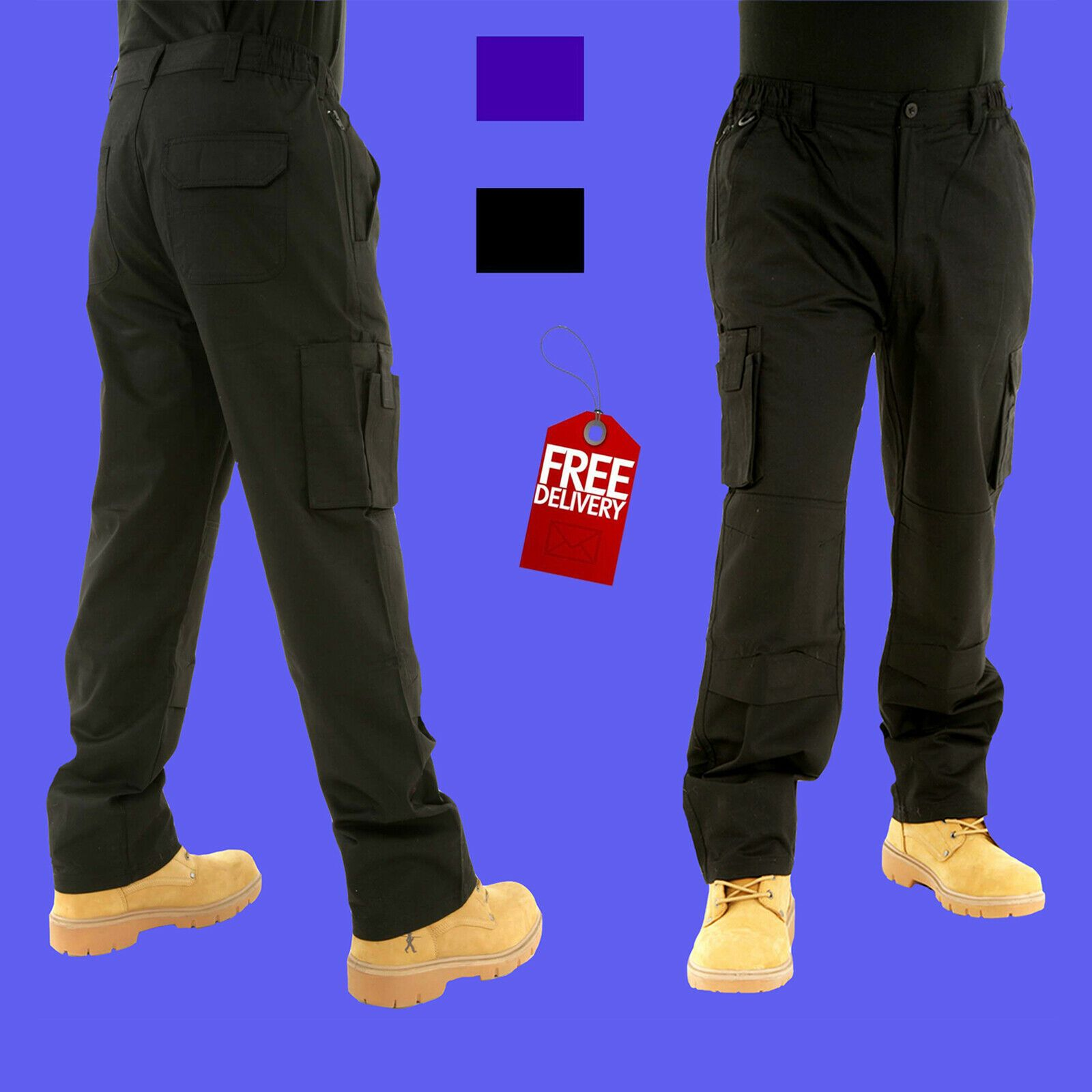 Mens Combat Cargo Work Trousers Size 30 To 54 With Knee Pad Pockets By Bks Ebay Work Trousers Knee Pads Knee