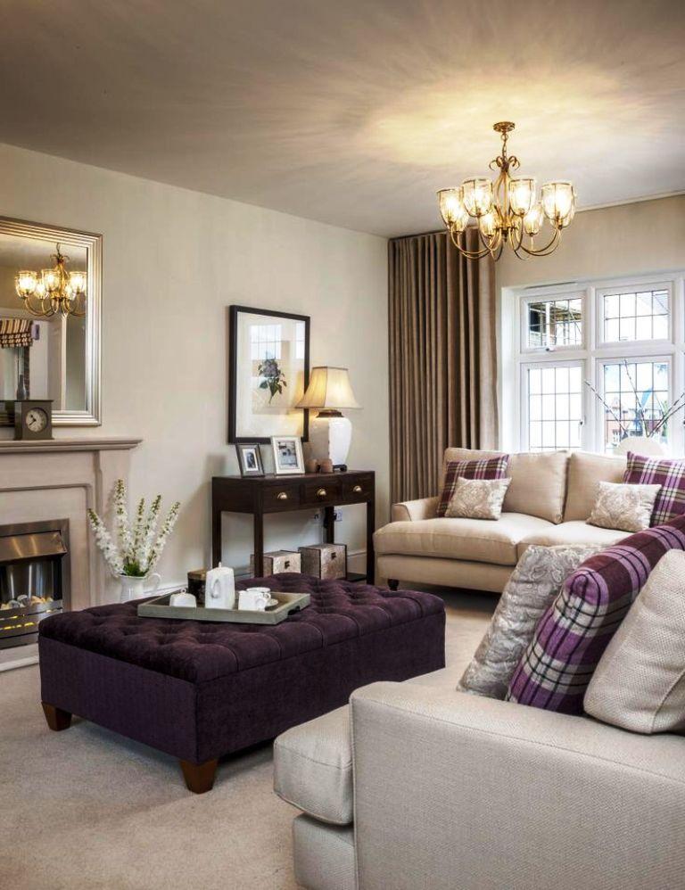 Grey And Purple Living Room   Purple living room ...