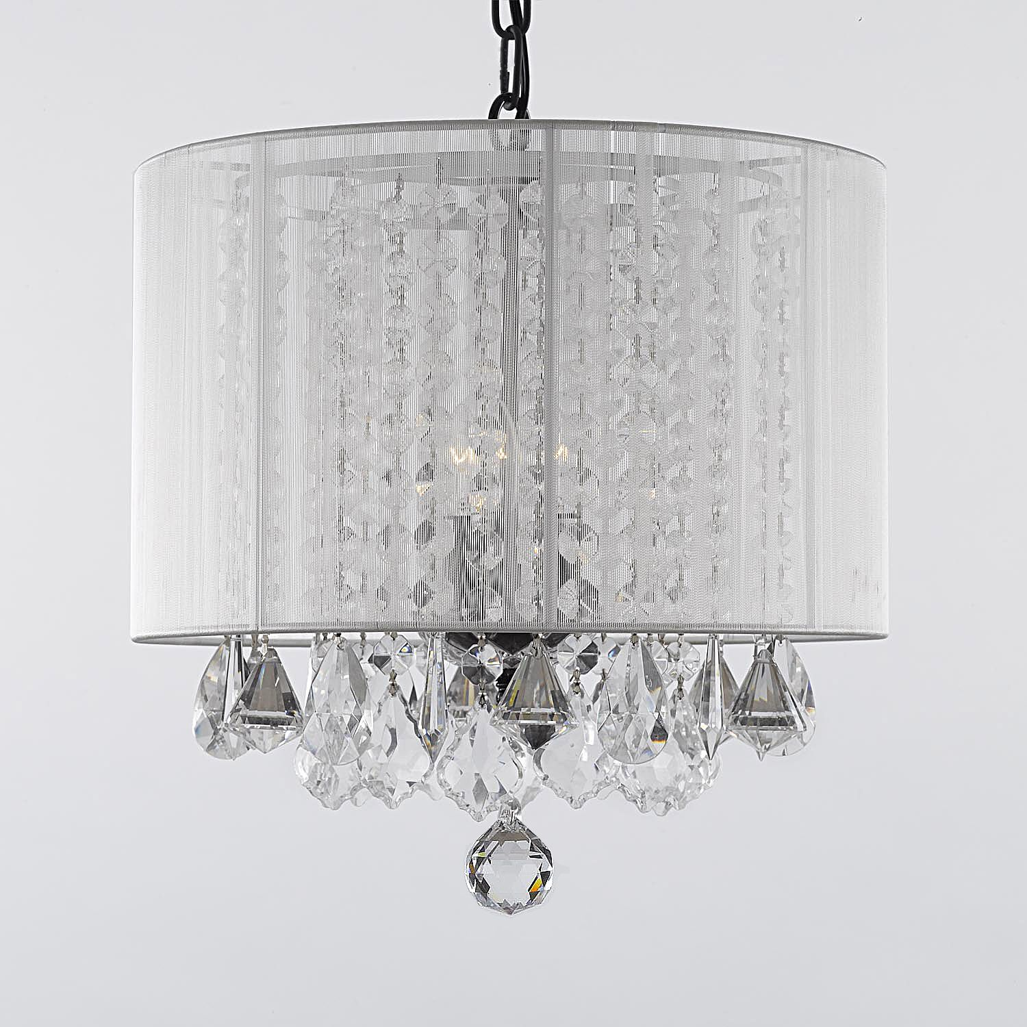 G7 whitesm6043 gallery chandeliers with shades crystal chandelier gallery crystal chandelier with shade by gallery chandeliers on wrought iron frame crystal accent hardwired professional installation recommended arubaitofo Images
