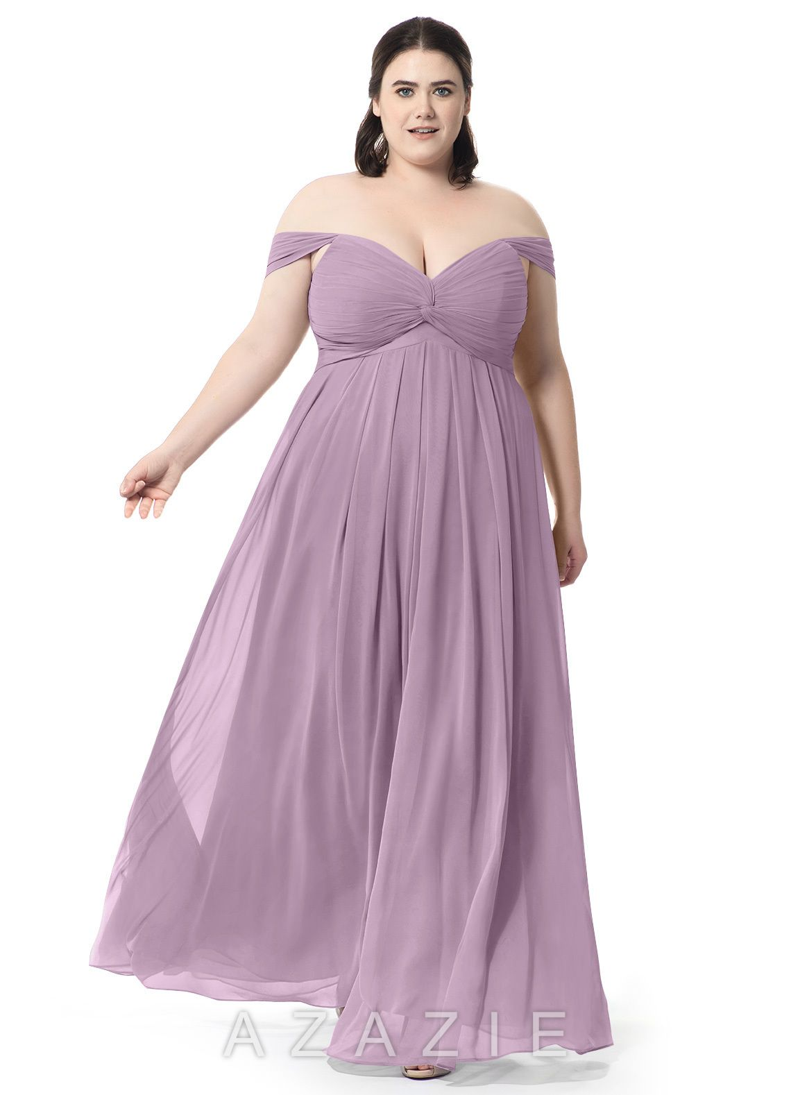 a8d82343dfd Azazie Kaitlynn Bridesmaid Dress - Wisteria
